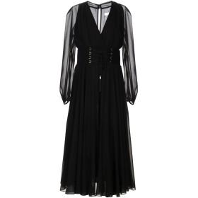 《セール開催中》VERSACE COLLECTION レディース 7分丈ワンピース・ドレス ブラック 40 100% ポリエステル