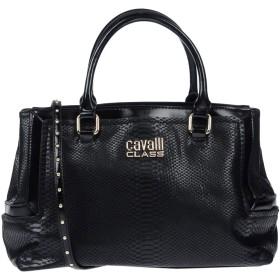 《送料無料》CAVALLI CLASS レディース ハンドバッグ ブラック ポリウレタン 100%