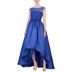 《9/20まで! 限定セール開催中》MIKAEL AGHAL レディース 7分丈ワンピース・ドレス ブルー 2 ポリエステル 100%