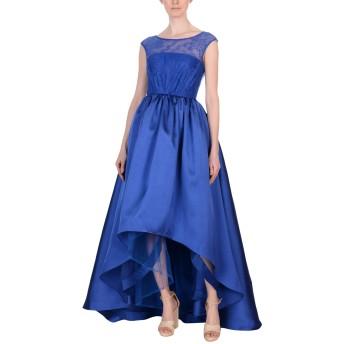 《セール開催中》MIKAEL AGHAL レディース 7分丈ワンピース・ドレス ブルー 2 ポリエステル 100%