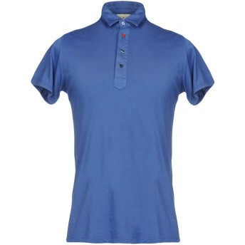 《セール開催中》MACCHIA J メンズ ポロシャツ ブルー S 100% コットン