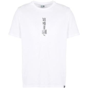 《期間限定セール開催中!》PUMA メンズ T シャツ ホワイト S コットン 100% Slogan Tee
