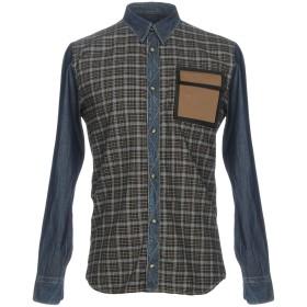 《セール開催中》FRANKIE MORELLO メンズ デニムシャツ ブルー S コットン 100%