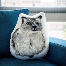 猫ファインヘアピロー(スタイリング)