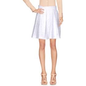 《セール開催中》BOUTIQUE MOSCHINO レディース ひざ丈スカート ホワイト 38 コットン 90% / ポリエステル 10%