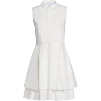 《9/20まで! 限定セール開催中》DEREK LAM 10 CROSBY レディース ミニワンピース&ドレス ホワイト 2 100% コットン