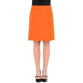 《送料無料》BOUTIQUE MOSCHINO レディース ひざ丈スカート オレンジ 42 100% バージンウール