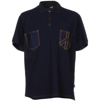 《期間限定セール開催中!》LOVE MOSCHINO メンズ ポロシャツ ダークブルー XXL 96% コットン 4% ポリウレタン