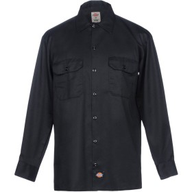 《期間限定 セール開催中》DICKIES メンズ シャツ ブラック M ポリエステル 65% / コットン 35%