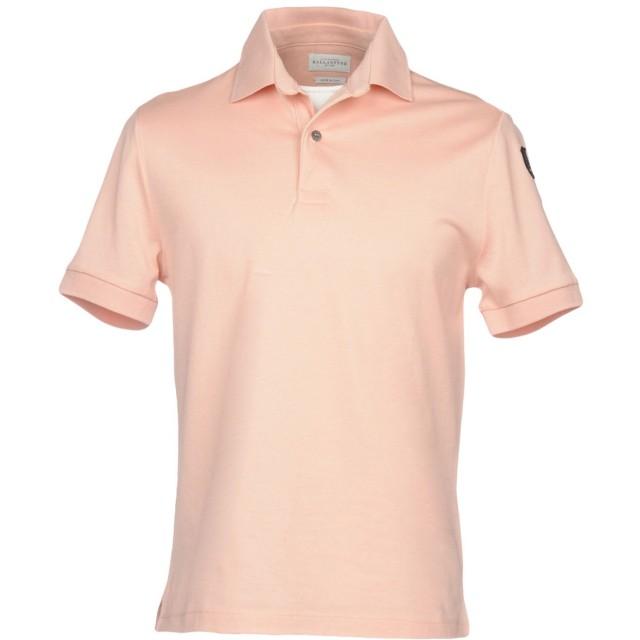 《期間限定セール開催中!》BALLANTYNE メンズ ポロシャツ ピンク S 100% コットン
