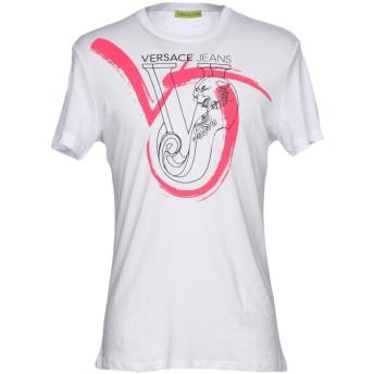 《セール開催中》VERSACE JEANS メンズ T シャツ ホワイト XL 100% コットン