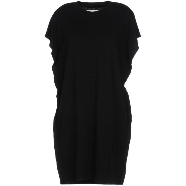 《セール開催中》MM6 MAISON MARGIELA レディース ミニワンピース&ドレス ブラック S コットン 100%