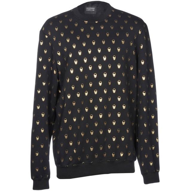 《期間限定 セール開催中》MARKUS LUPFER メンズ スウェットシャツ ブラック S 100% コットン