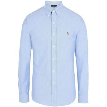 《期間限定 セール開催中》POLO RALPH LAUREN メンズ シャツ スカイブルー L 100% コットン Slim Fit Cotton Oxford Shirt