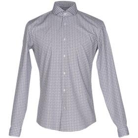 《期間限定セール開催中!》IVERGANO メンズ シャツ ダークブルー 39 コットン 100%
