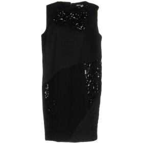 《セール開催中》DKNY レディース ミニワンピース&ドレス ブラック S レーヨン 69% / ナイロン 26% / ポリウレタン 5% / シルク / ポリエステル