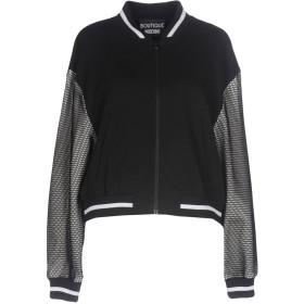 《期間限定 セール開催中》BOUTIQUE MOSCHINO レディース スウェットシャツ ブラック 38 ナイロン 100% / コットン / ポリエステル / 指定外繊維