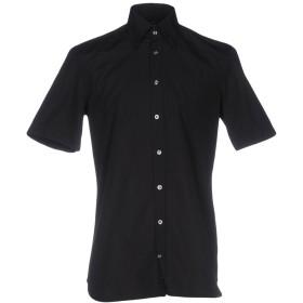 《期間限定 セール開催中》VAN LAACK メンズ シャツ ブラック 38 100% コットン