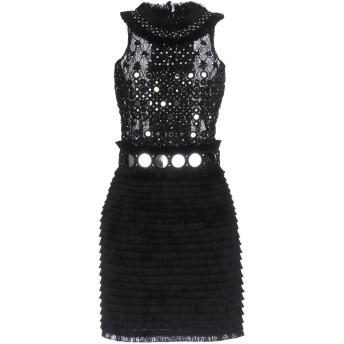 《セール開催中》AMEN COUTURE レディース ミニワンピース&ドレス ブラック 42 ナイロン / ガラス
