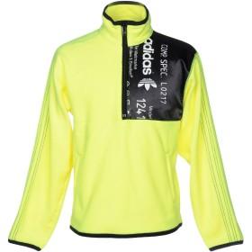 《期間限定 セール開催中》ADIDAS メンズ スウェットシャツ イエロー S ポリエステル 100% / ナイロン