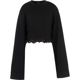 《期間限定 セール開催中》FENTY PUMA by RIHANNA レディース スウェットシャツ ブラック 12 コットン 78% / ポリエステル 17% / ポリウレタン 5% CROPPED LONG SLEEVE