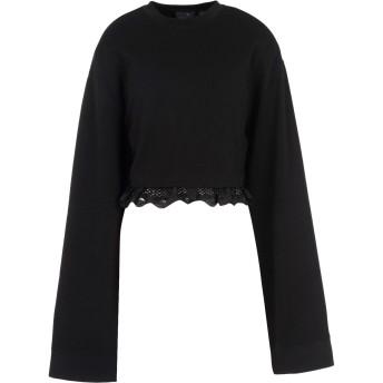 《期間限定セール開催中!》FENTY PUMA by RIHANNA レディース スウェットシャツ ブラック 12 コットン 78% / ポリエステル 17% / ポリウレタン 5% CROPPED LONG SLEEVE