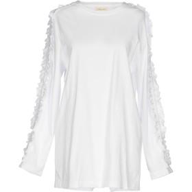 《セール開催中》STEVE J & YONI P レディース T シャツ ホワイト L 100% コットン