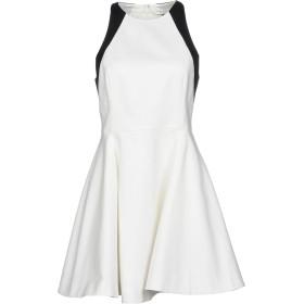 《セール開催中》HALSTON レディース ミニワンピース&ドレス ホワイト 4 コットン 97% / ポリウレタン 3%