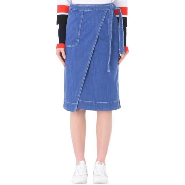 《期間限定セール開催中!》TOMMY HILFIGER レディース デニムスカート ブルー 6 コットン 98% / ポリウレタン 2% SKIRT LYLYAN
