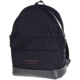 《期間限定セール開催中!》BURBERRY Unisex バックパック&ヒップバッグ ダークブルー ポリエステル 100% / 牛革