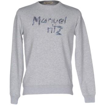 《セール開催中》MANUEL RITZ メンズ スウェットシャツ ライトグレー S コットン 100%