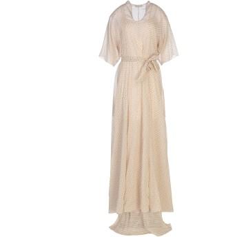 《セール開催中》SUPER BLOND レディース ロングワンピース&ドレス ベージュ S シルク 100%