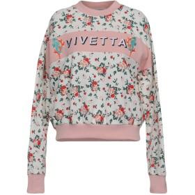 《9/20まで! 限定セール開催中》VIVETTA レディース スウェットシャツ ホワイト 38 100% コットン