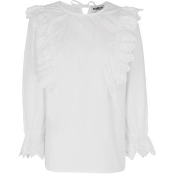 《期間限定セール開催中!》ESSENTIEL ANTWERP レディース ブラウス ホワイト 38 コットン 100% Palice long sleeved shirt