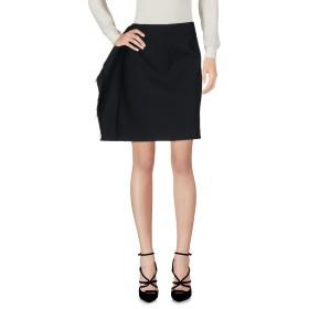 《期間限定セール開催中!》MM6 MAISON MARGIELA レディース ひざ丈スカート ブラック 40 ポリエステル 54% / バージンウール 44% / ポリウレタン 2%