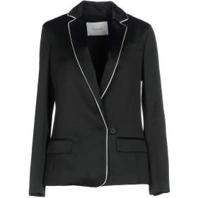 《期間限定 セール開催中》AGLINI レディース テーラードジャケット ブラック 38 レーヨン 71% / 麻 16% / コットン 13%