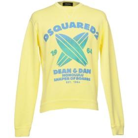 《セール開催中》DSQUARED2 メンズ スウェットシャツ イエロー XS コットン 100% / ポリウレタン