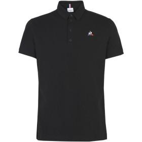 《期間限定セール開催中!》LE COQ SPORTIF メンズ ポロシャツ ブラック S コットン 100% ESS Polo SS N°2 M