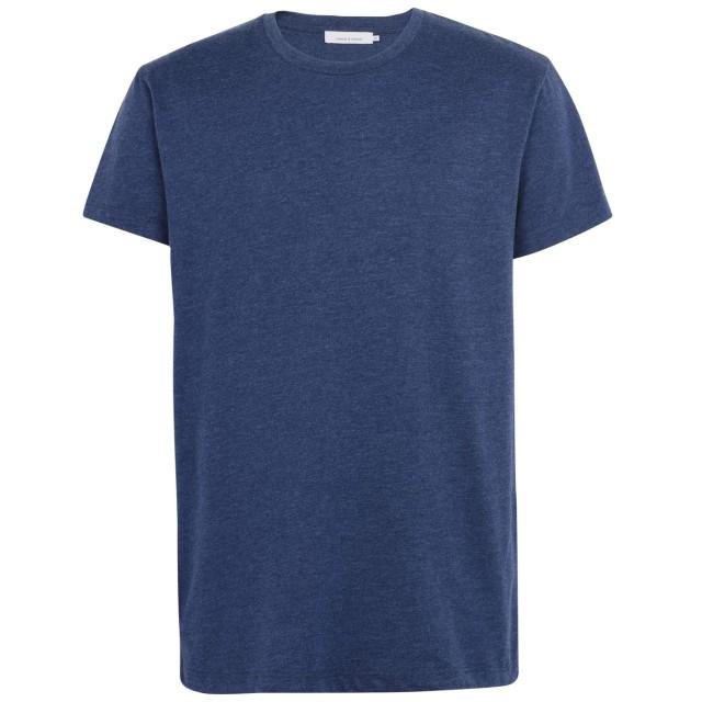 《期間限定セール開催中!》SAMSE Φ SAMSE メンズ T シャツ ダークブルー S コットン 50% / ポリエステル 50% KRONOS