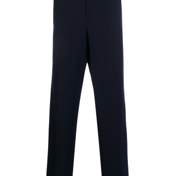 Yohji Yamamoto high waist trousers - ブルー