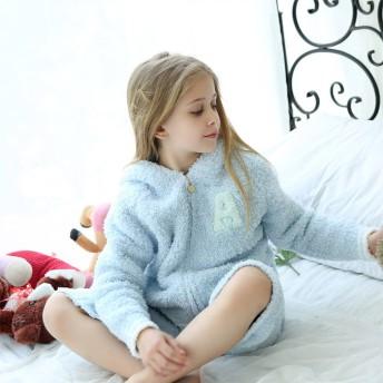 ルームウェア・部屋着 - LFF PREMIUM SHOP ルームウェア キッズ 上下セット もこもこ パジャマ 冬 あったか 部屋着 可愛い 長袖 ロングパンツ 7分丈 セットアップ 寝巻き子供 女の子 男の子 ジュニア プレゼント ギフト