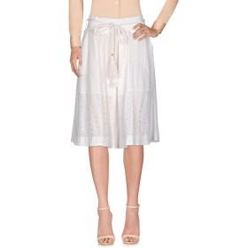 《期間限定セール開催中!》PATRIZIA PEPE レディース 7分丈スカート ホワイト 40 コットン 100%