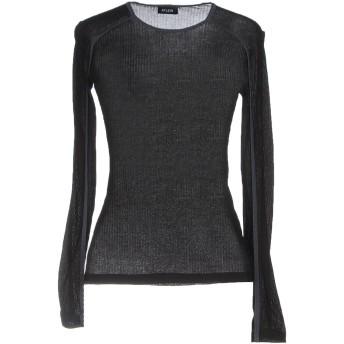 《セール開催中》ATLEIN レディース T シャツ ブラック 34 コットン 100%