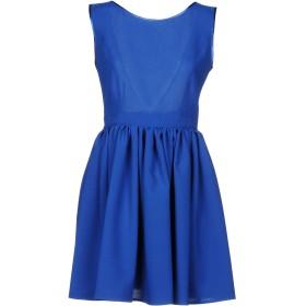 《セール開催中》FRANCESCA & VERONICA FELEPPA レディース ミニワンピース&ドレス ブルー 42 コットン 50% / ポリエステル 50%