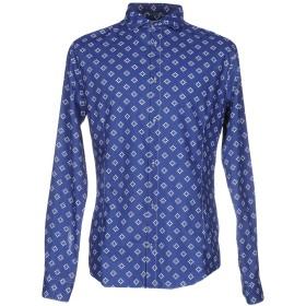 《セール開催中》ARMANI JEANS メンズ シャツ ダークブルー S 100% コットン