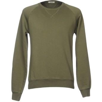 《期間限定セール開催中!》CROSSLEY メンズ スウェットシャツ ミリタリーグリーン XL コットン 100%