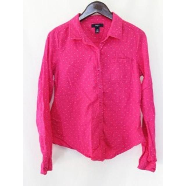 11199160e7820e 【中古】ギャップキッズ GAP KIDS 長袖 ドット シャツ 衿付き ピンク 160 XXL