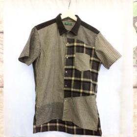 【メンズハンドメイドシャツ】ネル地×ストライプ柄ワークシャツ original shirt 5