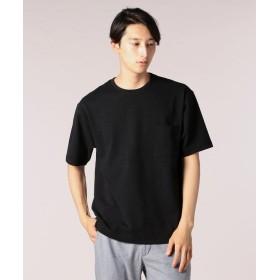 【50%OFF】 フレディアンドグロスター ルーピング天竺Tシャツ メンズ ブラック M 【FREDY & GLOSTER】 【セール開催中】