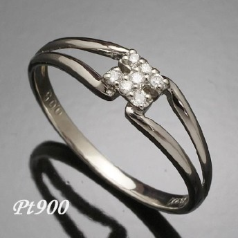 プラチナダイヤモンドリング(指輪) Pt900(u-124-pt)